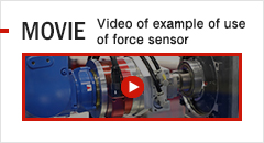 MOVIE Video of example of use of force sensor